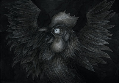 The Colour out of Space Chapter 1 Illustration - Scared Chicken by Andreas Hartung